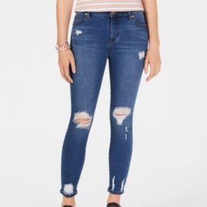 Celebrity Pink Juniors Ripped Cropped Skinny Jeans